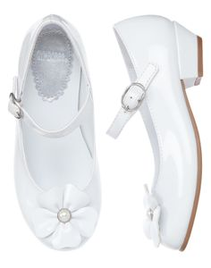 Gymboree Pearl Flower Patent Shoes - Kid Girl Size 3 - Brand New - Swap or sell -