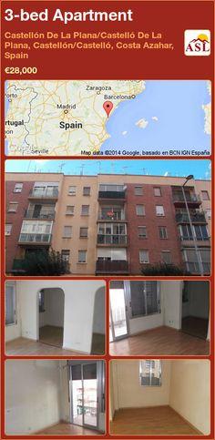 3-bed Apartment in Castellón De La Plana/Castelló De La Plana, Castellón/Castelló, Costa Azahar, Spain ►€28,000 #PropertyForSaleInSpain