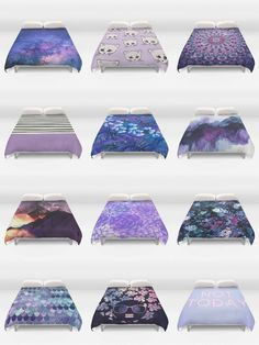 Society6 Purple Duvet Covers - Society6 is home to hundreds of thousands of artists from around the globe, uploading and selling their original works as 30+ premium consumer goods from Art Prints to Throw Blankets. They create, we produce and fulfill, and every purchase pays an artist.