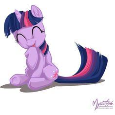 PonyDerivative - Twilight Sparkle - Twilight Sparkle Laughing ❤ liked on Polyvore