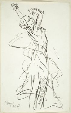 """arinewman7: """" The Dance by John Singer Sargent~ """""""