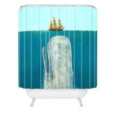 Iveta Abolina Seafoam Shower Curtain | DENY Designs Home Accessories