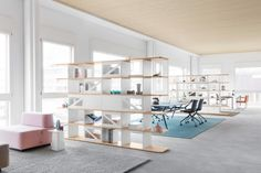 LO NEXT - Designer Shelving from Lista Office LO ✓ all information ✓ high-resolution images ✓ CADs ✓ catalogues ✓ contact information ✓ find. Storage Shelves, Shelving, Flexible Furniture, Office Furniture, Furniture Storage, Office Shelf, Sideboard Cabinet, Office Interiors, Lounge