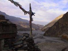 View toward Mustang Region, Kagbeni, Nepal