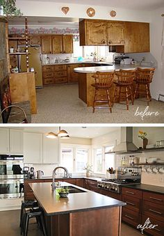 Look at the stunning kitchen makeover by Joellyn of Montana Prairie Tales. She posts lots of before and after photos to inspire you.