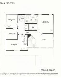 Mabel Bridge 245.2885 Second Floor Plan in Orlando FL