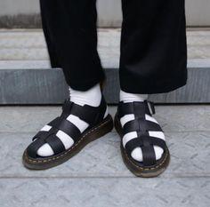 DOC'S & SOCKS: The Galia sandal, worn by ka_na_ta_oo.