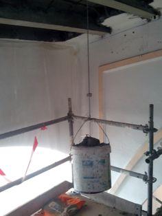Albañilería  Aplicación del mortero de reparación para reconstrucción de viguetas. (Prueba de carga puntual favorable de 40 Kgs)