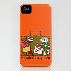 Wanderlust Queen iPhone casse