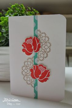 Simple Stems, Delicate Doilies Stampin Up by Cards and Scrapping for Crazy for CAS