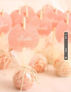 Sweet - cake pops with custom labels | CHECK OUT MORE IDEAS AT WEDDINGPINS.NET | #weddings #escortcards #weddingescortcards #coolideas #events #forweddings #ilovecards #romance #beauty #planners #cards #weddingdecorations