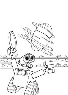 Wall-E Tegninger til Farvelægning. Printbare Farvelægning for børn. Tegninger til udskriv og farve nº 16