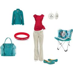Teal and coral outfit. My new favorite color combo.