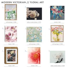 Our favorite floral art. #modernvictorian # floral #wallart