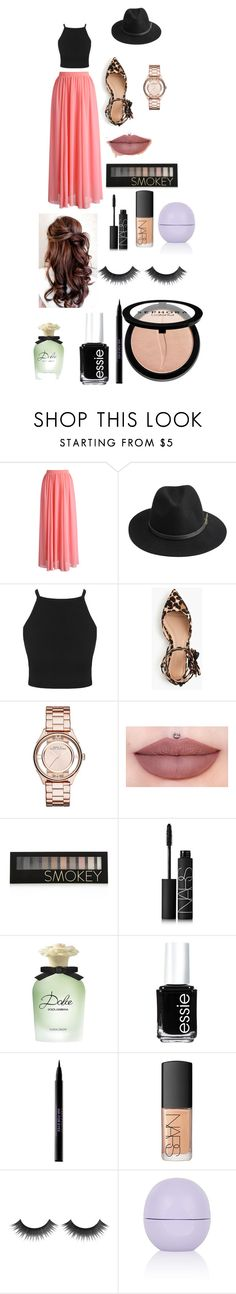 """Ben and The Town"" by kathrynclifford on Polyvore featuring Chicwish, BeckSöndergaard, J.Crew, Marc by Marc Jacobs, Forever 21, NARS Cosmetics, Dolce&Gabbana, Essie, Urban Decay and Topshop"