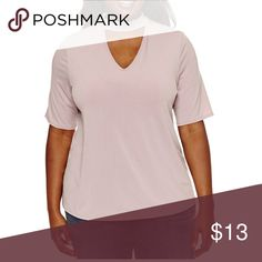 Boutique choker neck mauve blush blouse Sleeve Length: Elbow  SleeveNeckline: V Neck Collar: No Collar Fit: Modern Fabric Description: WovenFabric Content: 95% Polyester, 5% SpandexClosure Type: Pullover Head boutique Tops