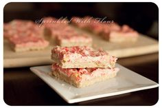 Candy Cane Kiss Shortbread Bars by AmberP (Sprinkled With Flour), via Flickr