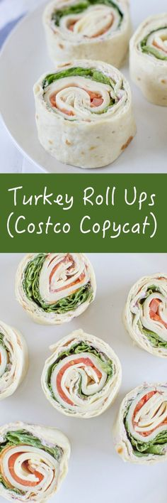 Make your own Turkey Roll Ups at home just like the. Make your own Turkey Roll Ups at home just like the Costco Make your own Turkey Roll Ups at home just like the Costco version! Not only are they easy to make but they are cheaper and taste better too! Turkey Roll Ups, Turkey Wraps, Turkey Wrap Recipes, Roll Ups Recipes, Snacks Für Party, Boat Snacks, Parties Food, Party Appetizers, Tortilla Roll Ups Appetizers