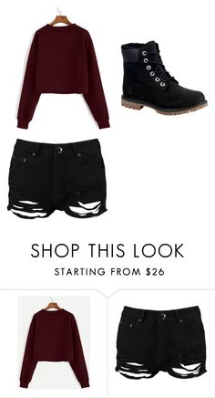 """""""Untitled #120"""" by cabaker209 ❤ liked on Polyvore featuring Boohoo and Timberland"""