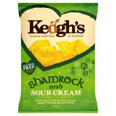 Keoghs Shamrock And Sour Cream Crisps 125G - Groceries