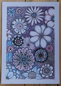zentangle flowers