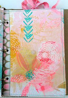 StencilGirl Talk: Painterly Goodness in my unPlanner