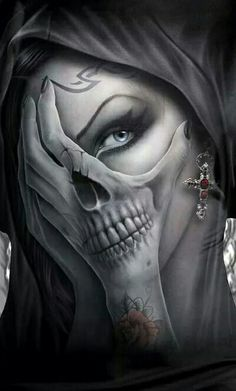 Skull Tattoo Ideas and much more on our site. Badass Tattoos, New Tattoos, Body Art Tattoos, Cool Tattoos, Tattoo Drawings, La Muerte Tattoo, Catrina Tattoo, La Catarina Tattoo, Tattoo Gesicht