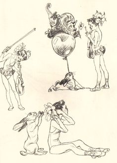 Sketchbooks :: [Wendling] - Daisies - Stuart Ng Books - Rare and Out of Print Art Books and Artist Sketchbooks
