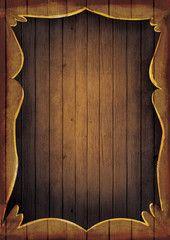 Wooden frame illustration