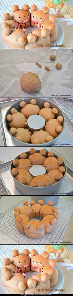 日本人のごはん/パン Japanese meals/Bread. Cocoa Teddy Bear Bread Recipe from http://littlemissonigiri...