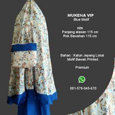 Mukena Vip Blue Motif - Grosir Pesan Mukena katun jepang santung bordir batik bali murah anak