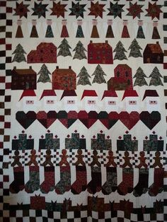 Row by row quilt by Diane Larson. Found on 24 Blocks
