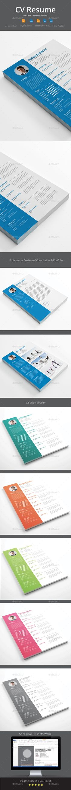 CV Resume Template. Download here: http://graphicriver.net/item/cv-resume/16009637?ref=ksioks