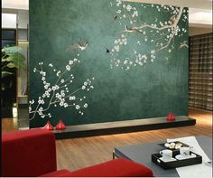 Your place to buy and sell all things handmade Open Wall, Cleaning Walls, Suzhou, Tree Wallpaper, Make Design, Design Design, Cherry Tree, Bedroom Wall, Bedroom Sets