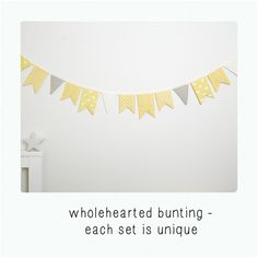 Wholehearted bunting - soft yellow | Wholehearted | madeit.com.au