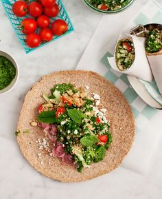 Picnic Wraps with Feta and Quinoa Salad