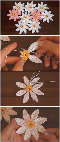 Crochet Flowers Easy Crochet Pretty Easy Flowers - Learn to crochet a pretty easy flowers. We are glad to share with you step by step instructions without missing details. These flower are gorgeous, wonderful and creative. Crochet Simple, Crochet Diy, Love Crochet, Learn To Crochet, Crochet Crafts, Crochet Projects, Crochet Ideas, Simply Crochet, Crochet Tutorials