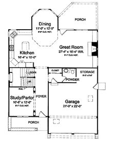 <3 <3 Floor Plans AFLFPW22135 - 2 Story Cottage Home with 4 Bedrooms, 2 Bathrooms and 2,549 total Square Feet
