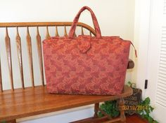 Crimson Forestry Tapestry Bag 117   My BIG by SignsofWelcome