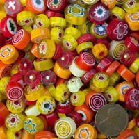 Red Yellow Millefiori by Mud Turtle Mosaic™ Mosaic Bottles, Glass Mosaic Tiles, Mosaic Diy, Mosaic Crafts, Mosaic Supplies, Computer Wallpaper, Art Forms, Mud, Turtle