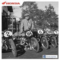 Soichiro Honda at the Asama camp during the second Asama Kazan race Racing Motorcycles, Vintage Motorcycles, Soichiro Honda, Honda Cub, Honda Motors, Isle Of Man, Road Racing, Vintage Racing, Motogp