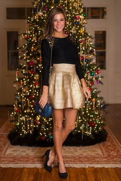 """""""Cheers To You Skirt, Gold"""""""