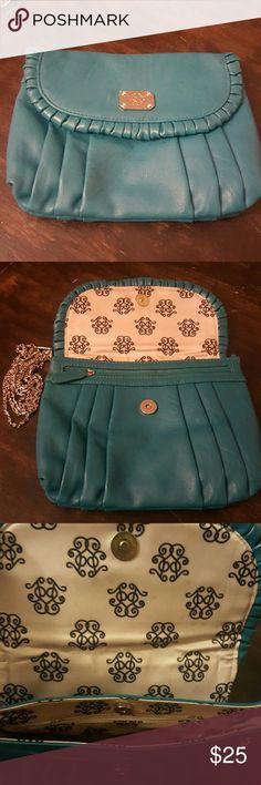 Selling this Teal Jessica Simpson clutch on Poshmark! My username is: tashacorcino. #shopmycloset #poshmark #fashion #shopping #style #forsale #Handbags