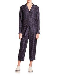 RAG & BONE Arthur Polka Dot Silk Jumpsuit. #ragbone #cloth #jumpsuit