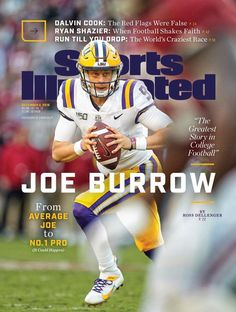 Cover Poster Joe Burrow Featured on Sports Illustrated's Huge Dec. 2019 Cover Poster Joe Burrow Featured on Sports Illustrated's Huge Dec. Lsu Tigers Football, College Football, Football Helmets, December 2 2019, Sports Illustrated Covers, Joe Burrow, Award Winning Photography, Football Season, Souvenir