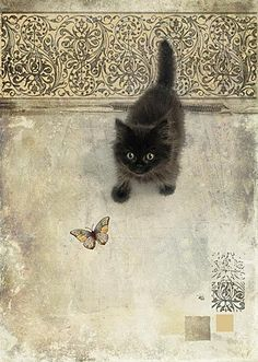 kitten and butterfly - Jane Crowther