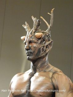 Great tree costume makeup from IMATS LA 2013! http://www.hairproductspro.com/blog/imats-la-2013-the-tree-man-makeup/