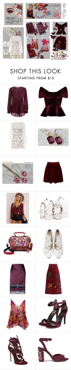 """It's all about Style & Grace"" by lawvel ❤ liked on Polyvore featuring Emilio De La Morena, SOLD Design Lab, self-portrait, Paprika, Waverly, Miu Miu, Givenchy, RED Valentino, Giuseppe Zanotti and See by Chloé"