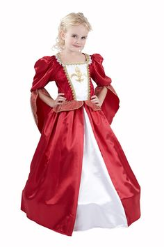 Medieval queen costume for girls: Kids Costumes,and fancy dress costumes - Vegaoo Red Dress Costume, Queen Costume, Princess Costumes, Girl Costumes, Fancy Dress For Kids, Girls Dress Up, Fancy Dress Outfits, The Dress, Medieval Princess