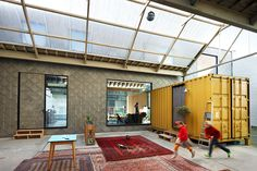 Bomastraat: Belgian Warehouse Home Shelters Three Shipping Containers Inside | Inhabitat - Green Design, Innovation, Architecture, Green Building